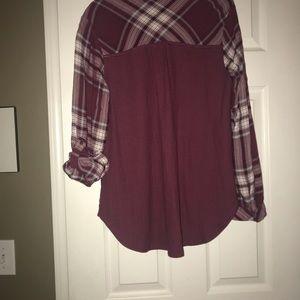 Flannel button up shirt